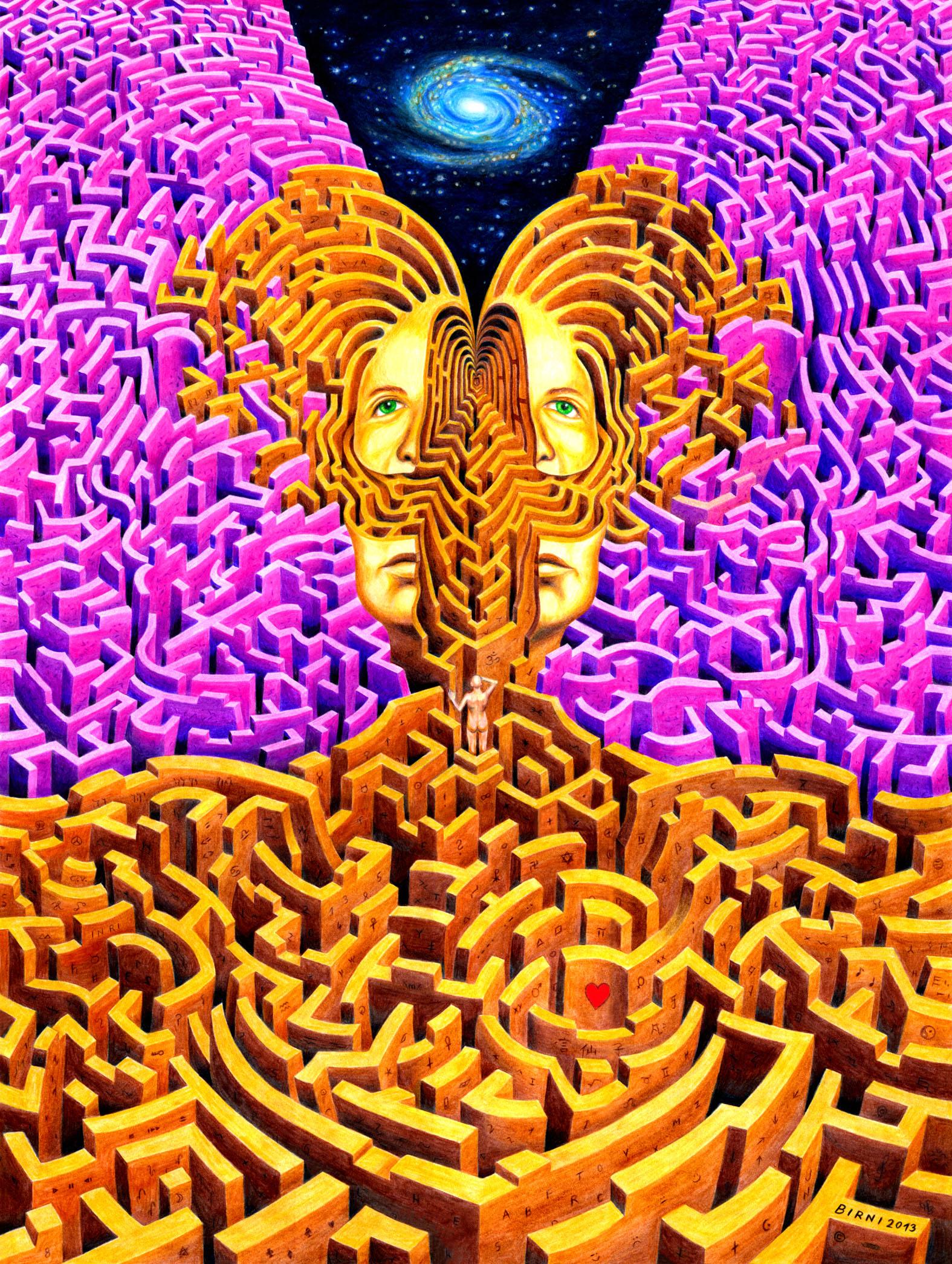 03 - Michael Birnstingl, Labyrinth der Erkenntnis, Buntstifte