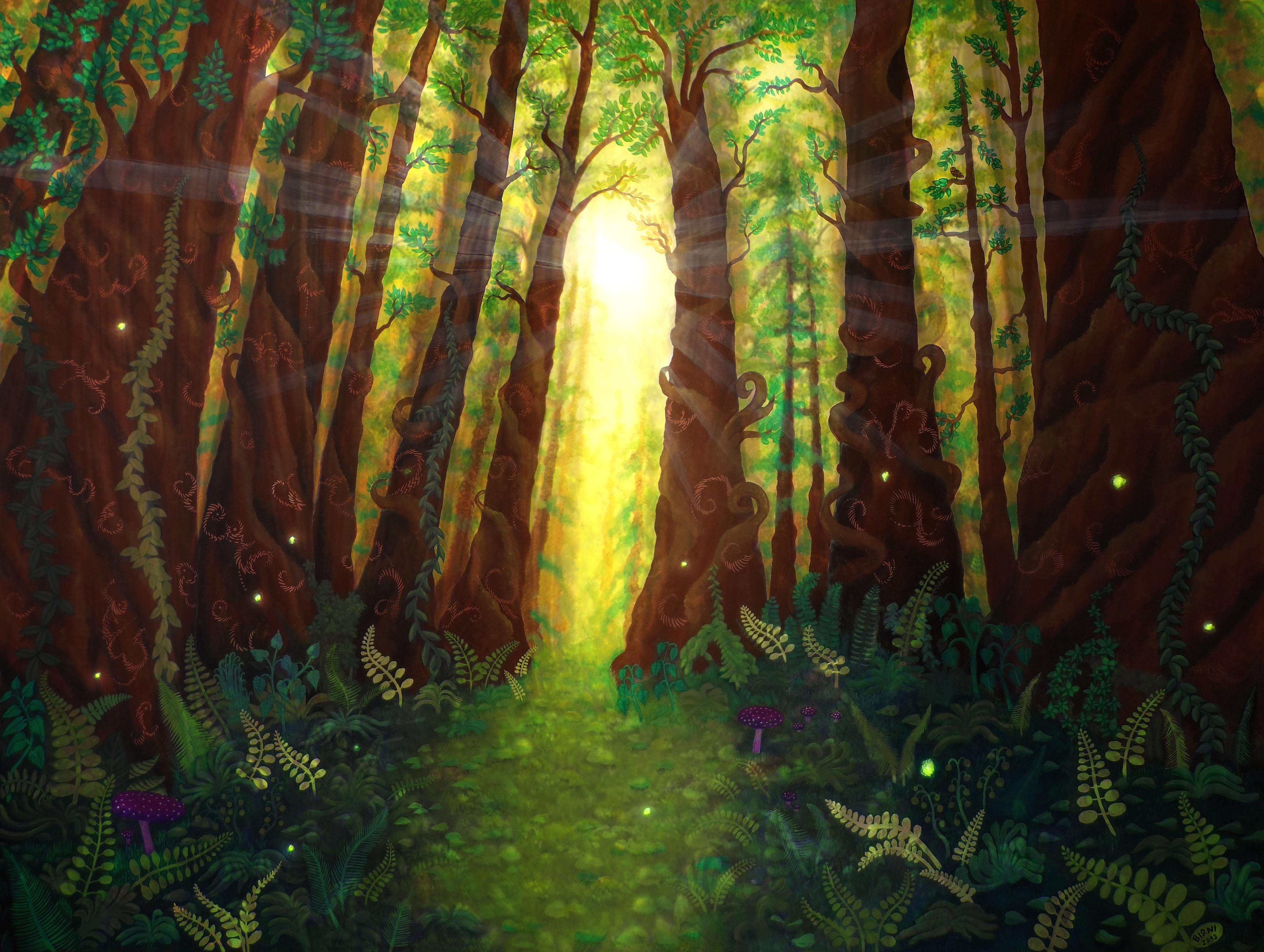 Wandgemälde3 - Verwunschener Wald
